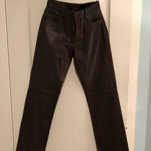 Men's 5 Pocket Leather Pants